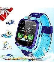 Reloj inteligente para niños, Smartwatch para niños con reproductor de música / ranura para tarjeta SIM / música de cámara / juego SOS / regalos de aprendizaje para niños y niñas cumpleaños regalo de Navidad