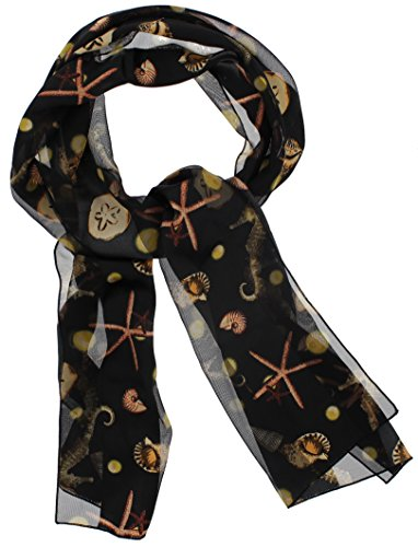 Women's Silky Feel Classic Summer Beach Theme Scarf, 12