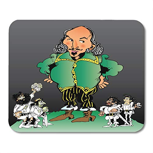 Boszina Mouse Pads Shakespearean White Elizabethan of William Shakespeare and His Characters Hamlet Arts Mouse Pad 9.5