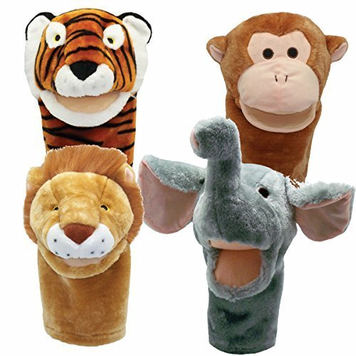 Get Ready Kids BigMouth Zoo Puppet Set Big Mouth Animal Puppets