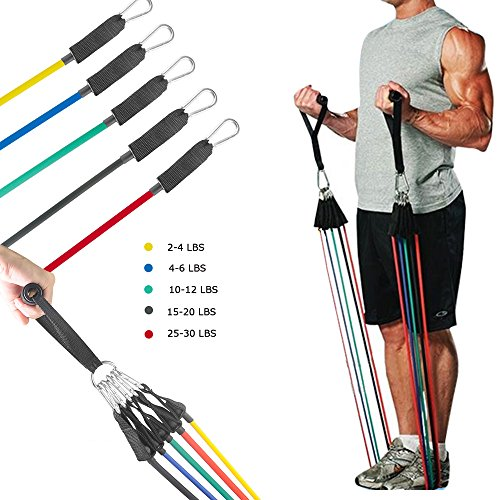 Resistance Band ,MORECOO 11pc Set Exercise Bands With