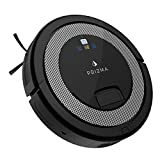 CleanMate QQ6 - Prizma Edition Robot Vacuum Cleaner with Remote Control, Smart Scheduler, Drop and Obstacle Sensor, Multi-Pattern Cleaning, and Self-Charging for Carpet and Hard Floor (Black)