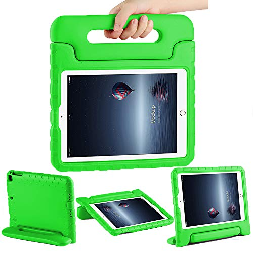CAM-ULATA Case for 2018 2017 iPad 9.7 inch for Kids Folio Shockproof Corner Protection Lightweight Cover for iPad Air iPad Air2 Kid Proof Green