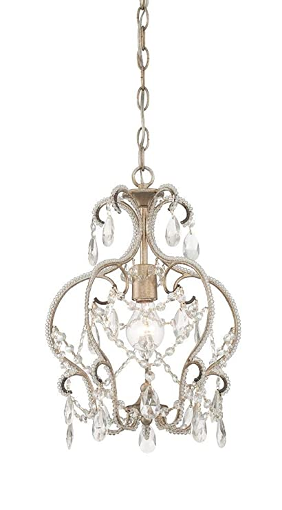 buy online 520fc ec829 Designers Fountain 6203-ARS Calla 1 Light Mini Chandelier