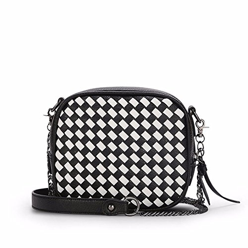 de black sac épaule occasionnels nouveau sac tissées coursier TwOS8Spqn