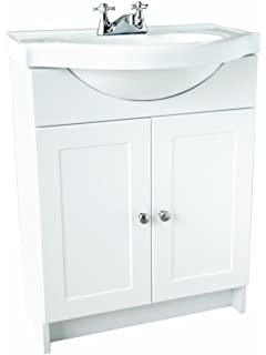 Design House 541664 Vanity Combo White Vanity Bathroom Cabinet With  2 Doors, 31