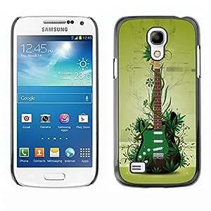 Be Good Phone Accessory // Dura Cáscara cubierta Protectora Caso Carcasa Funda de Protección para Samsung Galaxy S4 Mini i9190 MINI VERSION! // Green Guitar
