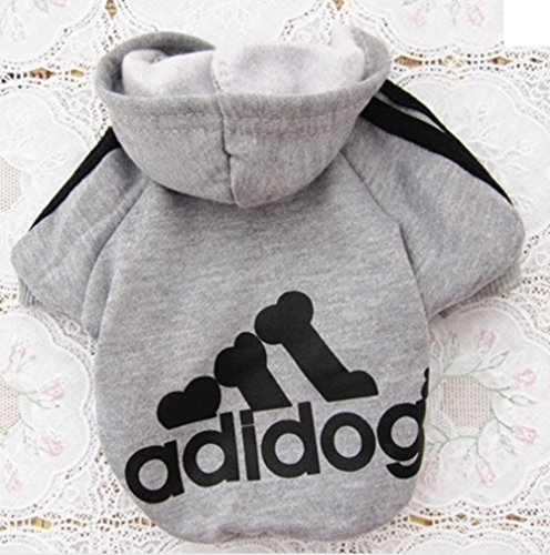[Top 1 Pet Cat Dog Clothes Warm Cotton Soft Hoodie Coat Adidog Costume Winter Sweater Clothing for Small Dogs Chihuahua Yorkshire (Gray,] (Pomeranian Costume)