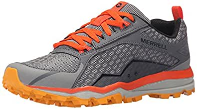 Merrell Men's All Out Crush Trail Running, Grey/Orange, 7.5 M US