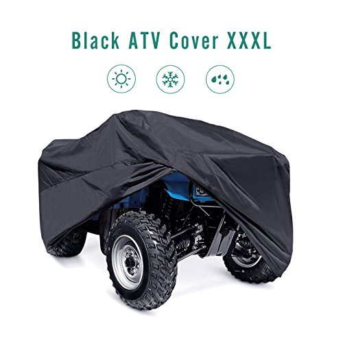 Parts Atv Banshee (INNOGLOW 210T XXXL(265x140x110CM) ATV Cover Waterproof All Weather Durable Universal Storage Dustproof Wind-proof UV Protection Fits Up Mule Gator Prowler YAMAHA Prowler Rancher Foreman Fourtrax Recon)