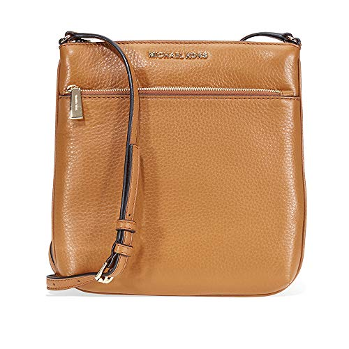 Michael Kors Riley Small Pebbled Leather Messenger Bag- Acron