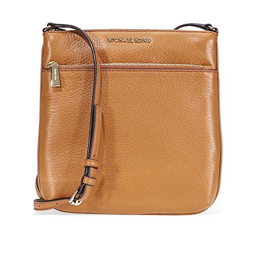 Michael Kors Riley Small Pebbled Leather Messenger Bag- Acron -