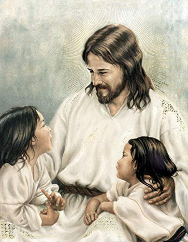 - Let The Children Come to me Jesus Christ - Religious Wall Art Print Poster (20X27)