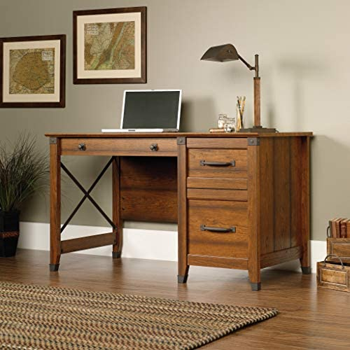 home, kitchen, furniture, home office furniture,  home office desks 5 discount Sauder Carson Forge Desk, Washington Cherry finish in USA