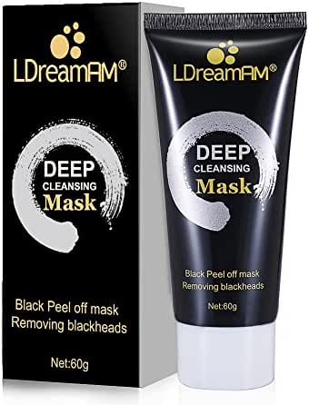 Peel off Mask,Blackhead Face Mask,Blackhead Remover Mask,Suction Cleaner Black Mask Deep Cleansing Pore Strips /Farewell Strawberry Nose Mask for Facial Treatment