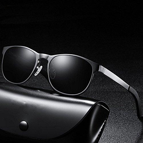 Color de size conducción de sol Gafas tamaño conductor coloridas Gafas Blue One sol Gafas Unisex Aluminium Espejo de Glasses Brown del Magnesium Polarized 84TwwW1q