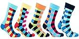 Socks n Socks-Mens 5-pair Luxury Fun Cool Cotton Colorful Dress Socks Gift Box ...