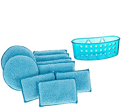 Campanelli's Dual Sided Microfiber/DiamondFiber Cleaning Sponges - Clean Green, Without Using Harsh Chemicals. Dishwasher Safe.