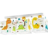 Dalber Dinos Lámpara Colgante 3 Luces E27, Multicolor