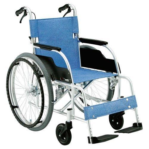 [松永製作所] 【非課税】自走型 車椅子 (車いす) 13.9kg アルミ製 ECO-201B HB  (ハイブリッドノーパンクタイヤ仕様) B00ENY0AS6   ノーパンクタイヤ