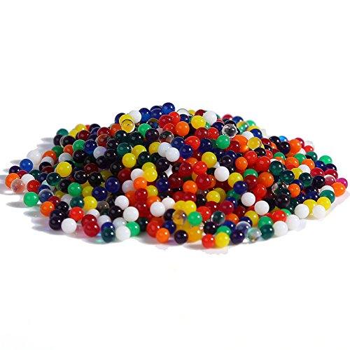 Magic water beads bulk 10000pcs Crystal Mud multi color water absorbing beads Orbeez Packs Kids Boys Tactile Toys Sensory Toys, Vase Filler, Crystal Soil, Plant decoration, Bamboo Plants ( rainbow )