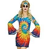 flatwhite Womens Shimmy Hippie Costume 60s 70s Flower Power (L)