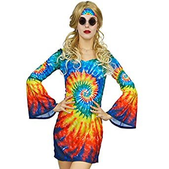 60s Costumes: Hippie, Go Go Dancer, Flower Child, Mod Style Womens Shimmy Hippie Costume 60s 70s Flower Power $24.88 AT vintagedancer.com
