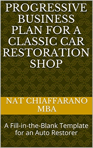 Auto Restorer - Progressive Business Plan for a Classic Car Restoration Shop: A Fill-in-the-Blank Template for an Auto Restorer
