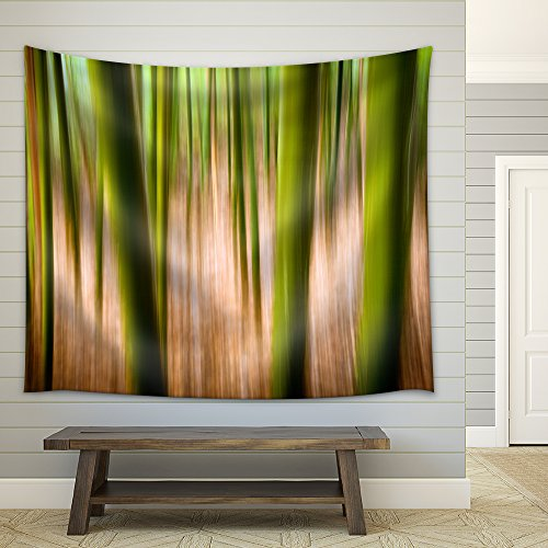 Abstract Nature Landscape Background Motion Blur Effect Bamboo Forest Fabric Wall Tapestry