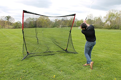 Rukket 4pc Golf Bundle | 10x7ft SPDR Driving Net | Tri-Turf Hitting Mat | Barrier Protective Wings | Carry Bag | Practice Indoor and Outdoor by Rukket Sports (Image #7)