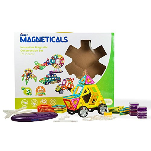 Magneticals Magnet Toys Tile Set (71-Piece Set) Stack, Create and Learn Promote Early Learning, Creativity, Imagination Magnetic Building Toys for Kids, Top-Rated Perfect Toy for Boys and Girls