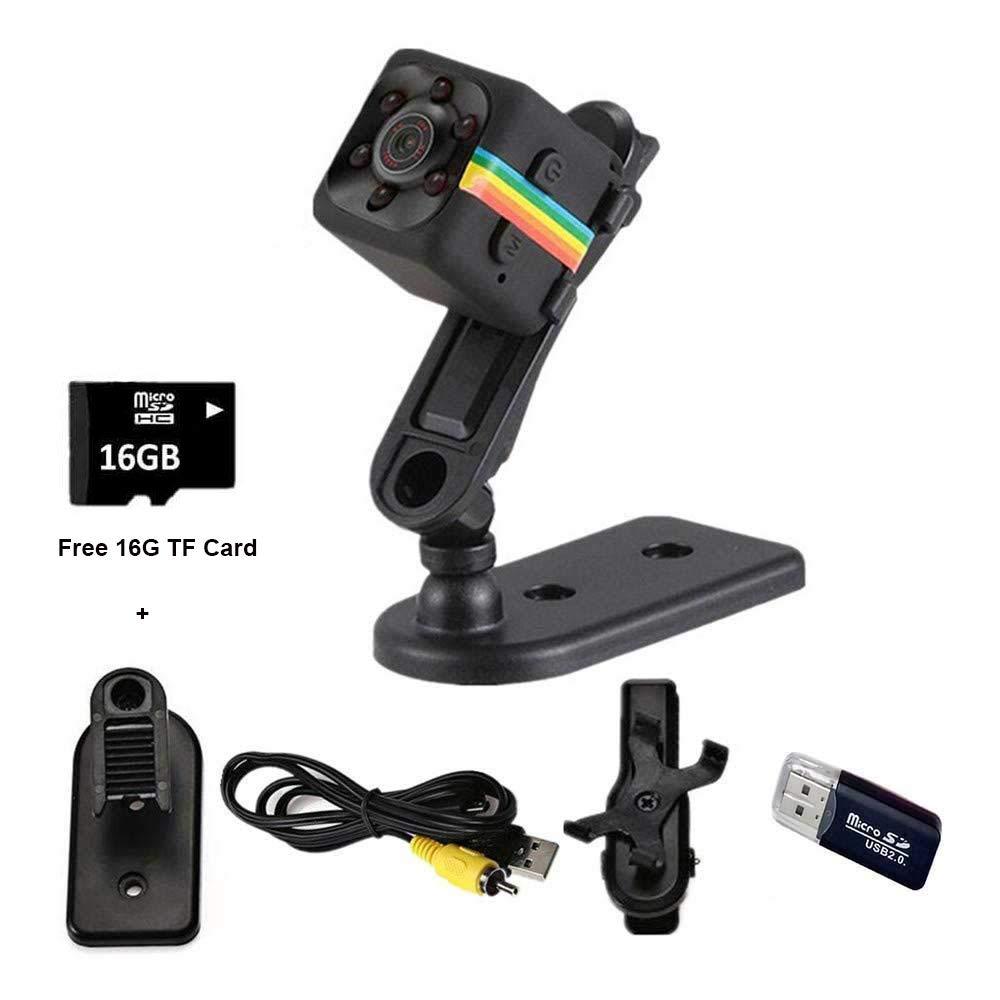 LemoCam 16G Mini Videoc/ámara HD 1080P Deportes DV Grabadora de Video C/ámaras esp/ía con visi/ón Nocturna y detecci/ón de Movimiento El Dashcam