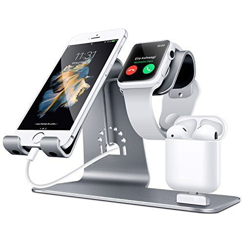 Cheap Smart Watch Cables & Chargers Bestand 3 in 1 Apple iWatch Stand, Airpods Charger Dock, Phone Desktop..