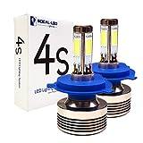 93 toyota paseo turbo kit - SOCAL-LED 2 x 4S H4 9003 Hi/Lo Headlight Bulbs LED Conversion Kit 80W 8000LM COB LED Bulb, 6000K Crystal White, 4-Side Light