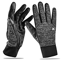 2018 Newest Winter Touchscreen Gloves (M/X/X-L) Warm Comfortable Lightweight Running Gloves Ski Snowboard Touchscreen Women Men Youth Sports Compression Liner Gloves Black For Winter Spring Or Fall