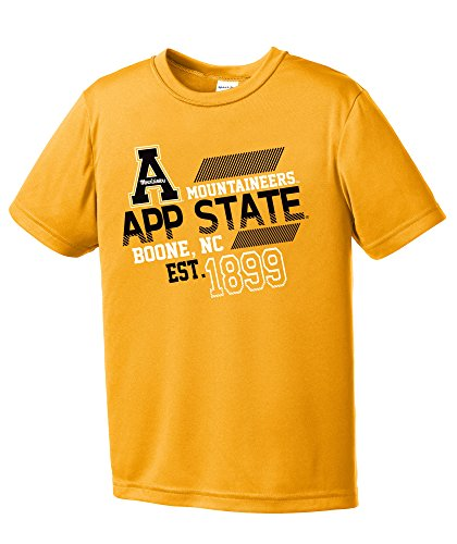 NCAA Appalachian State Mountaineers Youth Boys Offsides Short sleeve Polyester Competitor T-Shirt, Youth (Appalachian State Mountaineers Golf)