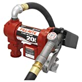 Fill-Rite FR4210G Fuel Transfer Pump, Telescoping Suction Pipe, 12' Delivery Hose, Manual Release Nozzle - 12 Volt, 20 GPM