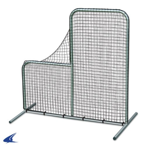 Champro Pitcher's L-Screen, Envelope Style (Silver/Green, 6 x (Pitchers Practice Screen)