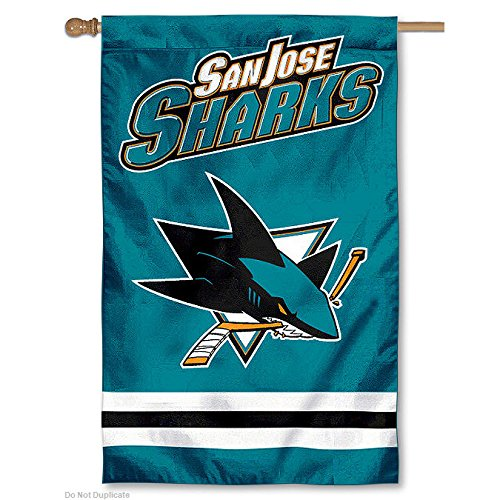 NHL 2-Sided Appliqué Banner Flag, San Jose Sharks