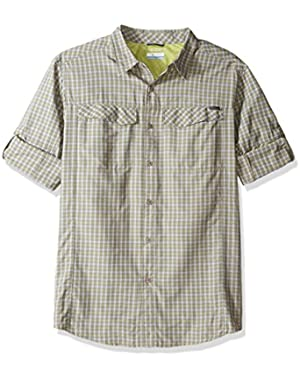 Men's Big-Tall Silver Ridge Plaid Long Sleeve Shirt, Voltage, X-Large