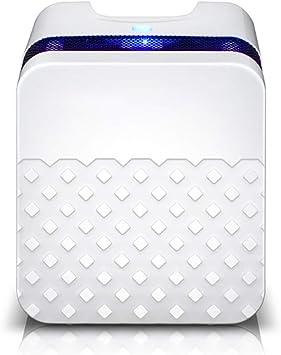 Mini deshumidificador de aire, deshumidificador compacto y portátil con antibacteriano, purificador de aire ultra ...