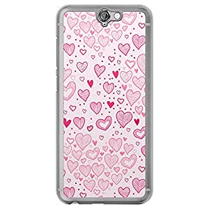 Loud Universe HTC One A9 Love Valentine Printing Files Valentine 166 Printed Transparent Edge Case - Pink