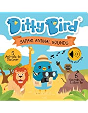 Interactive Safari Animal Sounds Book for Babies with Real-Life Sounds and a Rhyme. Interactive Musical Book for Toddlers. Educational Music Toys for 1 Year Old. Sound Books for one Year Old Boy Girl
