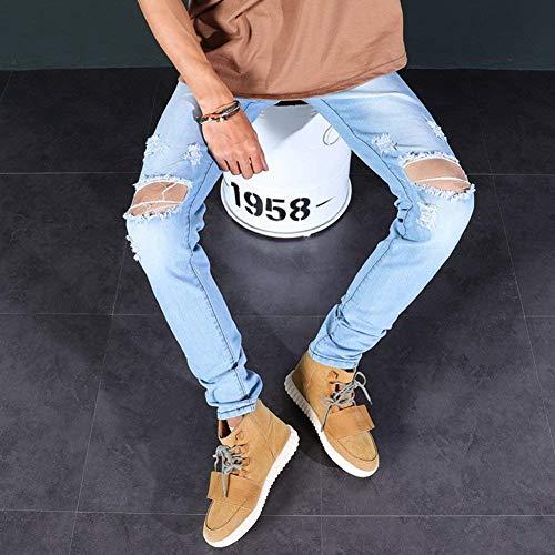 Fori Jeans A Slim Qk Ragazzo Vintage Rotti Angosciati Blau Cher Gamba Fit lannister Con Dritta Strappati 5qfqxU7F