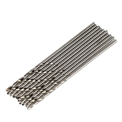 Pack of 10 Micro HSS Twist Drilling Auger bit for Electrical Drill (Diameter: 1mm---- Total Length: 40mm)