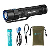 Olight S2R 1020 Lumen Rechargeable LED Flashlight with Magnetic Charger, Olight 3200mAh Rechargeable Battery, and LumenTac Adapters Review