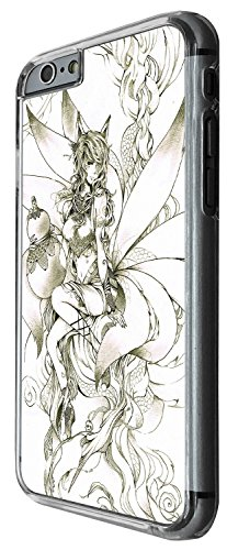 1247 - Cool Fun Trendy cute fairy sketch whimsical cartoon fantasy Design iphone 5C Coque Fashion Trend Case Coque Protection Cover plastique et métal - Clear