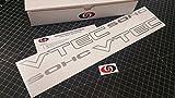 """VTEC SOHC 17"""" (Pair X2) Decal Kit Sticker Import Tuner METALLIC SILVER by Underground Designs"""