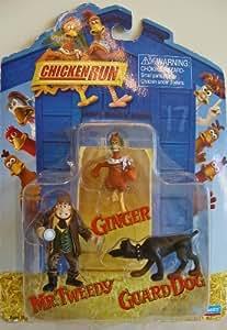 Amazon.com: Chicken Run Pvc Figure Set Ginger, Guard DOG