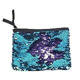 BullSpring Embrague del bolso de las lentejuelas, monedero de embrague del sobre negro de Funky Glitter, bolso brillante del embrague del bolso de la boda Monedero de la cartera (Azul púrpura)